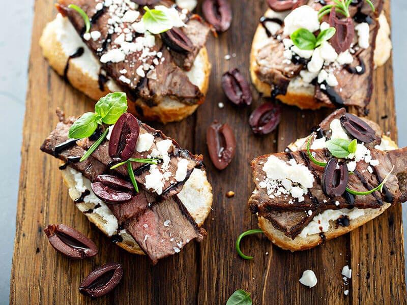 Steak Bruschetta Crostini Beef