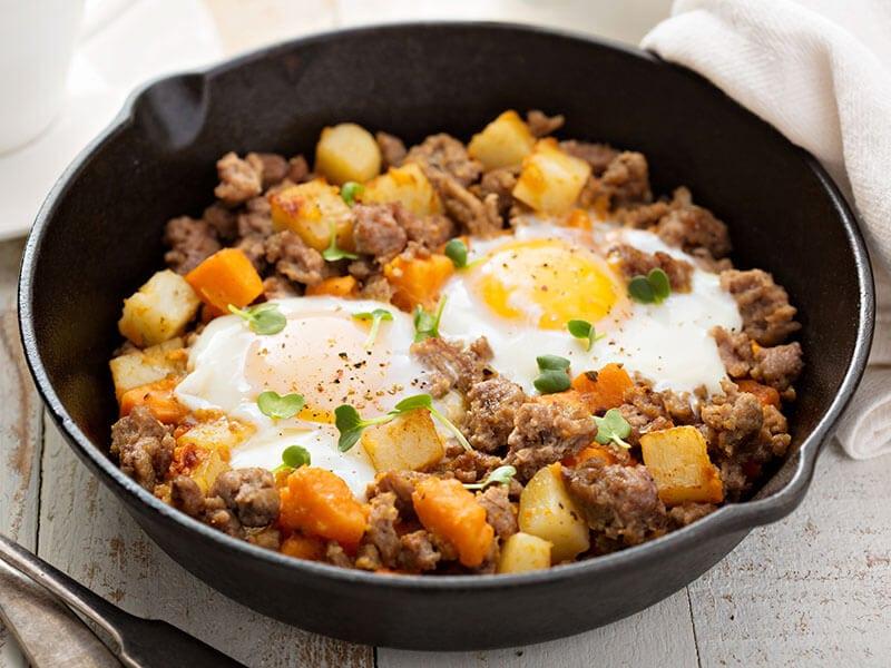 Potato Sweet Hash Eggs